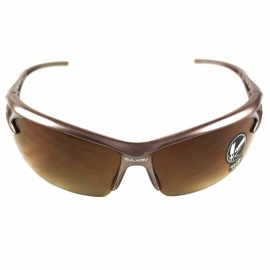 Explosion-Proof PVC Frame PVC Lens UV400 Protection Sport Goggles - Brown