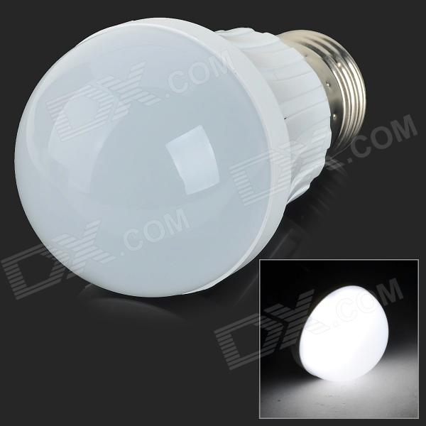 E27 3W 200lm 6500K 9-SMD 2835 LED White Light Bulb - White + Silvery Grey (AC 220~240V)