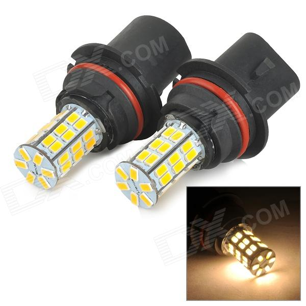 SENCART 9007 12W 370lm 3500K 5730 SMD LED Warm White Light Car Foglight / Headlamp (DC12~16V / 2pcs) h1 4w 220lm 68 smd 1210 led warm white light car foglight headlamp tail light 12v