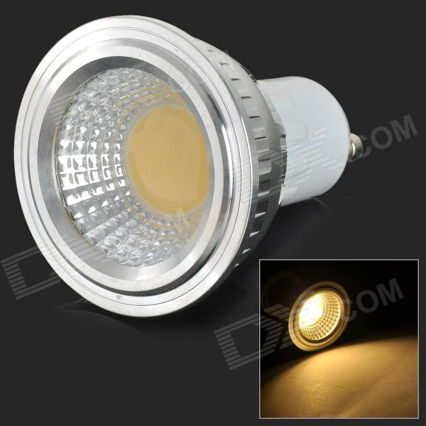 GU10 3W 250lm 3500K 1-COB LED Warm White Light Spotlight - White + Silvery Grey (AC 85~265V)