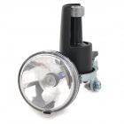 SXC02 Bike Bicycle 2-Mode Warm White Light Friction Generator Headlight - Black