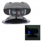 LC350 Suction Cup Car Vehicle Compass w/ Blue LED Light - Black