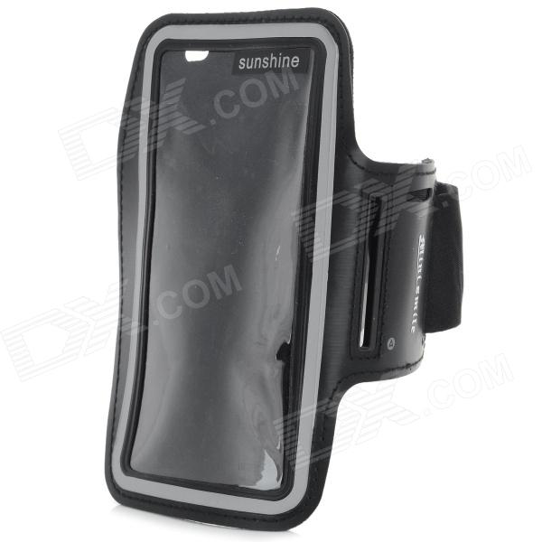 Protective Neoprene + PVC Sport Armband for Sony Xperia Z3 / L55T - Black complete on the go smart kit comfy sport band workout armband adjustable neoprene velcro strap for sony ericsson spiro xperia neo v xperia play xperia ray x8 x10 x10 mini pro vivaz text pro mix walkman xperia play includes a retrac