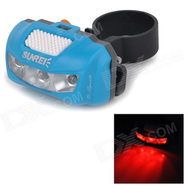 SUNREE B-sports Waterproof 3-Mode Red Light Bike Bicycle Tail Warning Light - Blue (2 x AAA) налобный фонарь sunree 2 sports2