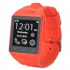 "AS9 1.54"" Screen GSM Single Core Bluetooth V2.0 Smart Watch Phone w/ TF Slot - Red"