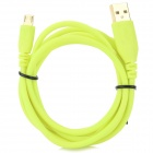 A004 USB Male to Micro USB Male Data Cable for LG / HTC / Samsung - Fluorescent Yellow (140cm)