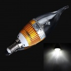 HESION HS01003C E14 3W 270lm 6000K 3-LED White Candle Bulb w/ Cree - Golden (AC 85~265V)
