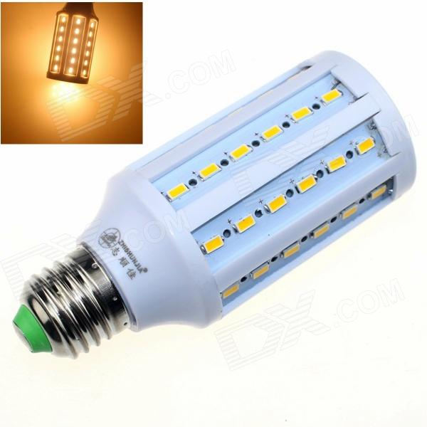ZHISHUNJIA E27 12W 880lm 3000K 60-SMD 5630 LED Warm White Corn Lamp - White (AC 85~265V)