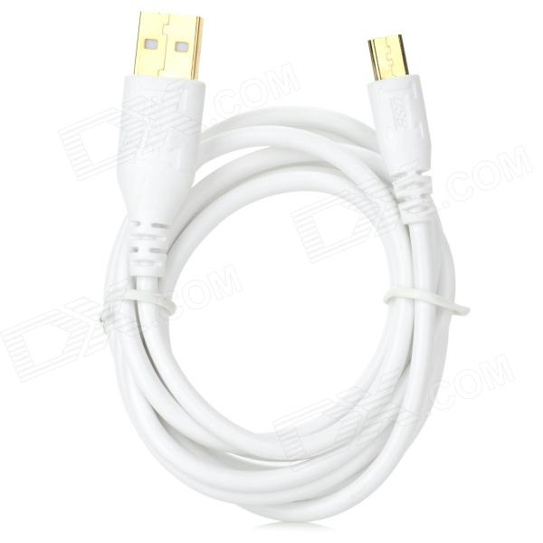A004 USB Male to Micro USB Male Data Cable for LG / HTC / Samsung + More - White (140cm) usb male to micro usb male data charging cable for samsung htc sony xiaomi lg more black