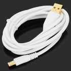 A004 USB Male to Micro USB Male Data Cable for LG / HTC / Samsung + More - White (140cm)
