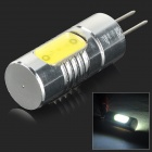 G4 1.5W 60lm 6000K 1-COB LED White Light Lamp - Silver + Yellow (DC 12V)