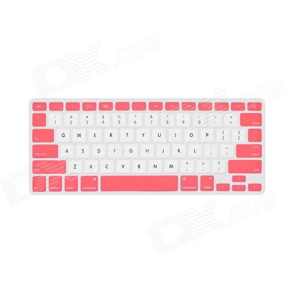 "Фото GeekRover Keyboard Skin Cover Protector for MacBook Pro 13"" / 15"" / 17"" - White + Pink"
