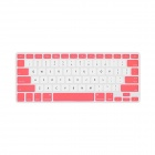 "GeekRover Keyboard Skin Cover Protector for MacBook Pro 13"" / 15"" / 17"" - White + Pink"
