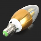 XUNRUIXING LZ-2012 E14 4W 320lm 3000K 32-SMD 3014 LED Warm White Candle Lamp - Golden (AC 85~265V)