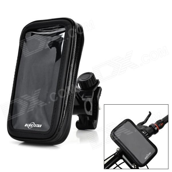 ABS + PVC Motorcycle Mount Holder + Water Resistant Bag for Motorola Moto X - Black motorcycle bicycle water resistant bag mount holder for samsung i9500 i9300 i9100