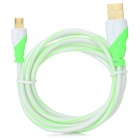 Gold Plating USB to Micro USB Data Cable for Samsung / HTC / LG - Green + White (150cm)