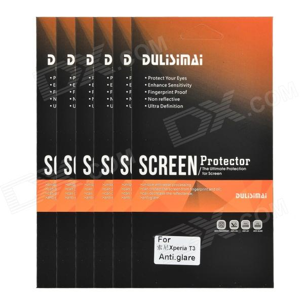 DULISIMAI Matte Protective ABS Screen Protector for Sony Xperia T3 - Transparent (6 PCS)