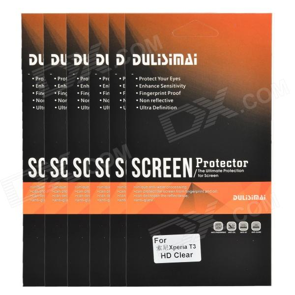 DULISIMAI Clear Protective ABS Screen Protector for Sony Xperia T3 - Transparent (6 PCS)