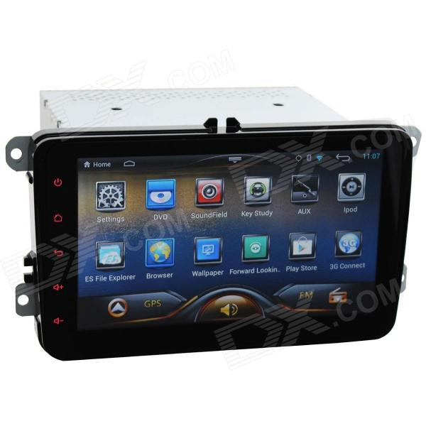 ZN-8001 8'' Capactive HD Touch Screen Android 4.2 Car DVD Player w/ GPS Navigator for VW - Black