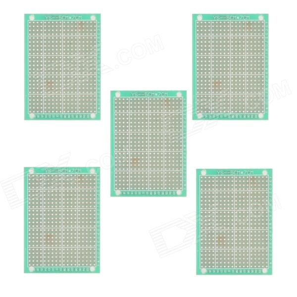 5cm x 7cm Universal PCB Punching Hole Test Boards / Pegboards - Green + Golden (5 PCS)  pcb79 1 2mm 7 x 9cm bakelite pcb circuit boards dark orange 5 pcs