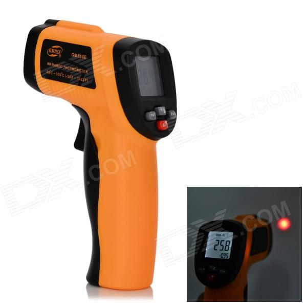 BENETECH GM550E 1.3 Screen Digital Infrared Thermometer - Orange + Black benetech gm320 1 2 lcd infrared temperature tester thermometer orange black 2 x aaa