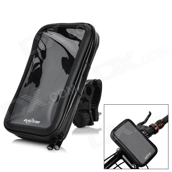 ABS + PVC Motorcycle Mount Holder + Water Resistant Bag for Sony Xperia Z2 / L50w - Black bulestar mini abs car suction cup mount holder for sony xperia z2 l50w black