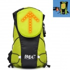 Bikeman S454 R/C Luminous Safety Warning Reflective Backpack - Fluorescent Yellow (5L / 2 x CR2032)