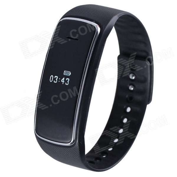 Aoluguya S9 Waterproof Smart Bluetooth Bracelet w/ OLED, Remote Taking Photo, Sports Monitor - Black trendwoo® twins bluetooth wireless speaker support 2 0 left and right stereo sound surround with built in microphone hands free music player