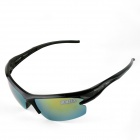 OUMILY Outdoor Sports Cycling UV400 Protection PC Frame Resin Lens Sunglasses Goggles - Black
