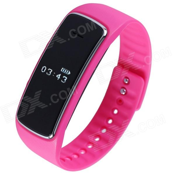 Aoluguya S9 Smart Bluetooth Bracelet w/ OLED, Remote Taking Photo, Sports Monitor - Deep Pink гаджет bluetooth aux адаптер rexant bluetooth aux 3 5mm 18 2400 9