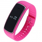 Aoluguya S9 Smart Bluetooth Bracelet w/ OLED, Remote Taking Photo, Sports Monitor - Deep Pink
