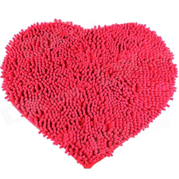 Romantic Heart-Shaped Household Carpet - Red romantic heart shaped 19 soap rose flowers w bear doll red pink beige