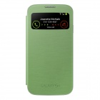Samsung Galaxy S4 I950B Stylish Flip Open Smart Case w/ Display Window - Green