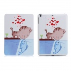 KAKUSIGA ENK-3355 Cat Loves Fish Pattern Smart Case w/ Stand for Retina IPAD MINI 2 / IPAD MINI 1