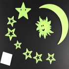 Moon Glow stile decorativo Sticker Paste - fluorescente verde ( 9 PCS )