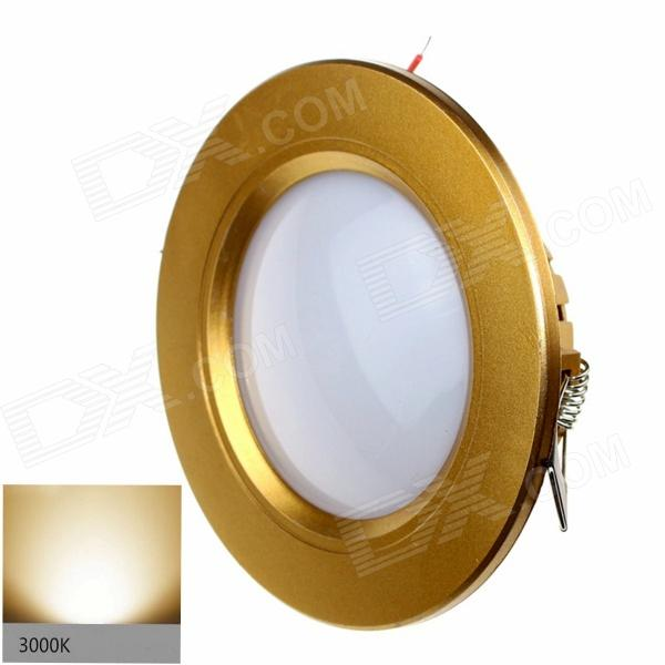 ZHISHUNJIA G025-3 3W 200lm 3000K 12-SMD 2835 LED Warm White Light Ceiling Lamp - Golden (AC 85~265V) kinfire m 18ww 18w 1610lm 3000k 90 smd 3528 led warm white ceiling lamp white ac 85 265v