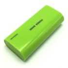 """5600mAh"" Mobile External Power Source Battery Charger for IPHONE / Samsung - Green"