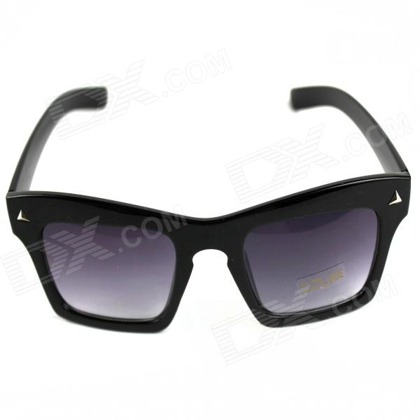 Men's Fashion PVC Frame PVC Lens UV400 Protection Sunglasses - Black