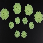 Sunflower Style Luminous Decorative Stickers Pastes - Fluorescent Green (10 PCS)