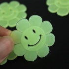 Zonnebloem Style Luminous decoratieve stickers Plakt - Fluorescent Green (10 PCS)