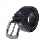 Men's Fashion England Style Split Leather Belt w/ Zinc Alloy Pin Buckle - Black