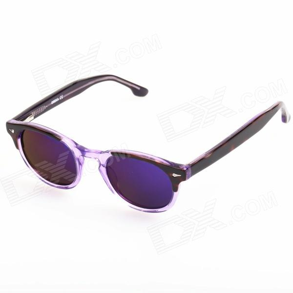 OREKA Cellulose Acetate Frame Resin Lens UV400 Protection Sunglasses for Children - Purple + Black carshiro 9150 uv400 protection resin lens polarized night vision driving glasses