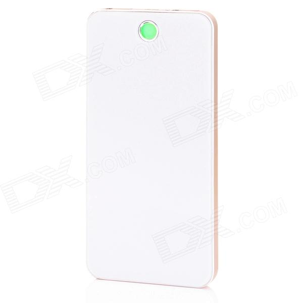 BP-6L 8000mAh Dual-USB Li-polymer Mobile Power  Bank for IPHONE / Samsung / HTC - White + Golden bp 15000mah dual usb mobile power source bank for iphone 5s samsung htc white green