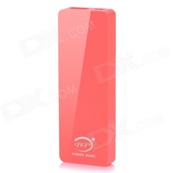 BP 4000mAh Ultra-thin Li-polymer Mobile Power Source for IPHONE 6 / 5S / Samsung - Deep Pink polymer lithium battery 11000mah 3 7v ultra large capacity mobile power charging treasure a core li ion cell