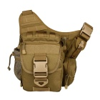 JUNGLE MAN T197 Outdoor Riding Cycling Tactical Camera Messenger Bag - Mud Color