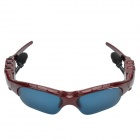 CHEERLINK Universal Bluetooth V3.0 Stereo Polarized Sunglasses w/ MP3 / Handsfree - Red + Blue
