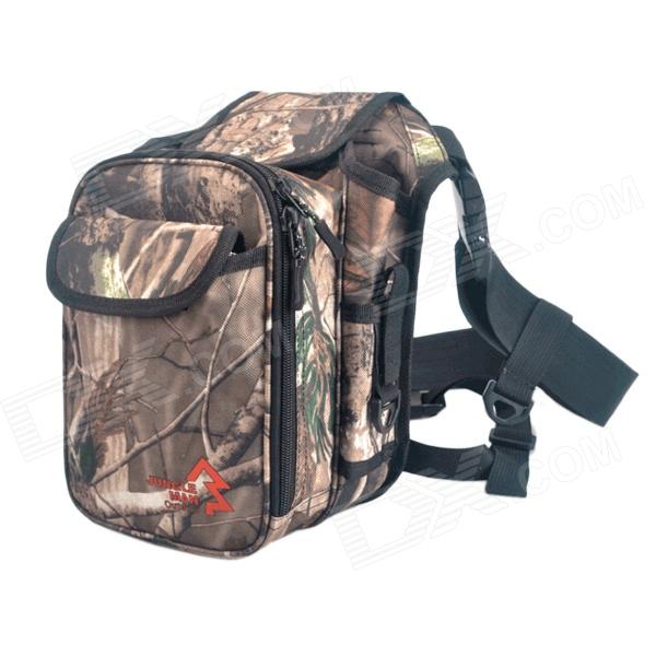 JUNGLE MAN T253 Lure Fishing Messenger Waist Bag / Tackle Butt Pack - Camouflage