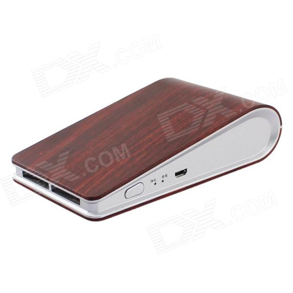 Laibaoxing Wood Grain Patterned USB Car Anion Ozone Generator Air Cleaner Purifier Filter - Dark Red платье sister jane sister jane si030ewbhvt7