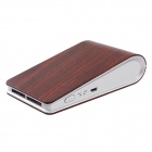 Laibaoxing Wood Grain Patterned USB Car Anion Ozone Generator Air Cleaner Purifier Filter - Dark Red