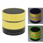 Mini Bluetooth V3.0 Speaker w/ Mic / TF Slot / FM Radio - Gold